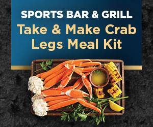 Sports Bar & Grill Take & Make Crab Legs Meal Kit